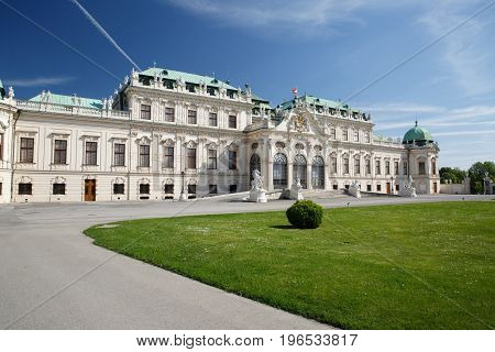 Vienna  - Belvedere Palace Building. The Old Town Is A Unesco World Heritage Site