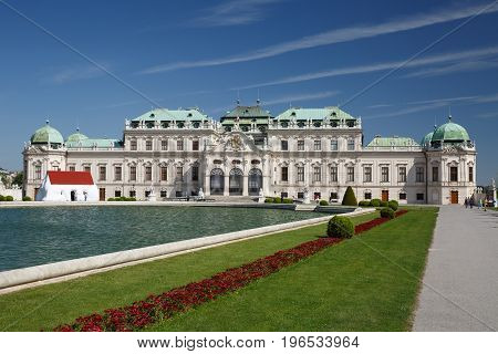 View Of A Baroque Upper Palace In Historical Complex Belvedere, Vienna, Austria