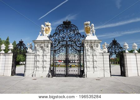 Main Gate Of The Upper Belvedere Palace, Vienna