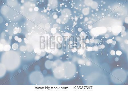 Abstract background. Blue colored White blur. Circle blur