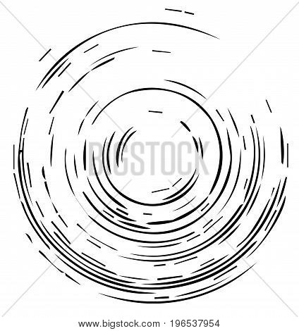 Geometric pattern with concentric circles, Element for design, background, backdrop. Black and white vector illustration.