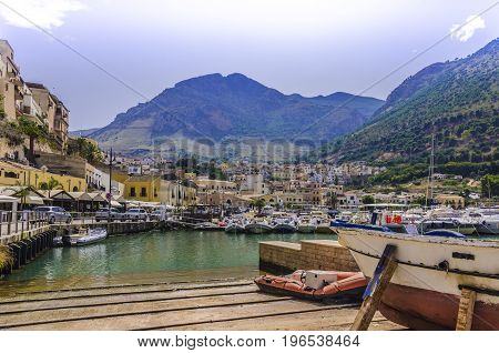 Close to the city of Palermo in Sicily is this picturesque harbor