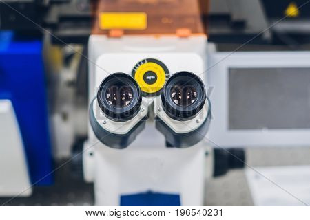 Confocal Scanning Microscope In Laboratory For Biological Samples Investigation