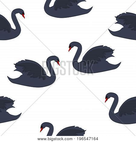 Swan Seamless Pattern