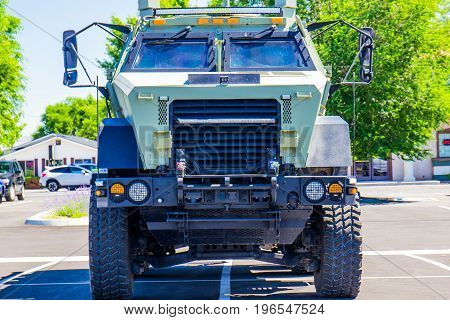 Large Police SWAT Vehicle With Grill & Large Tires