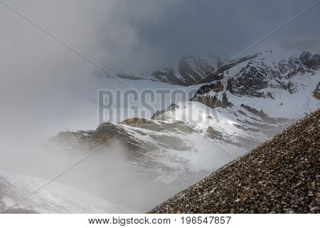 View of the Beautiful landscape of Himalaya mountains