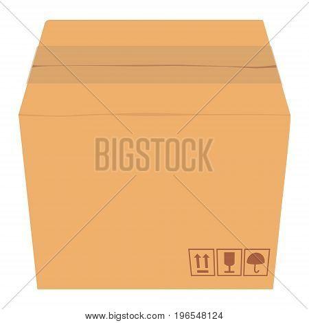 Isometric Cardboard Box