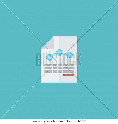 Flat Icon Balance Sheet Element. Vector Illustration Of Flat Icon Paper Isolated On Clean Background