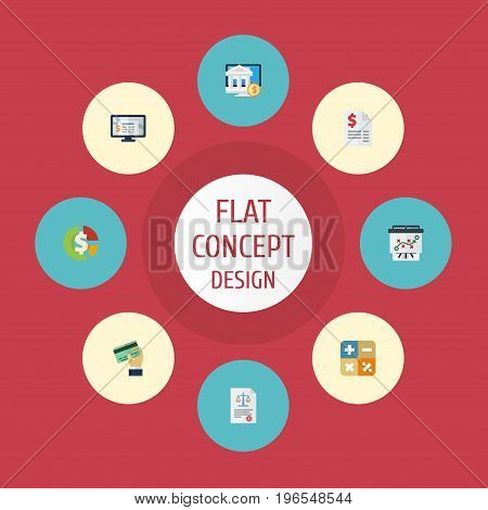 Flat Icons Duty, Stock, Algebra And Other Vector Elements