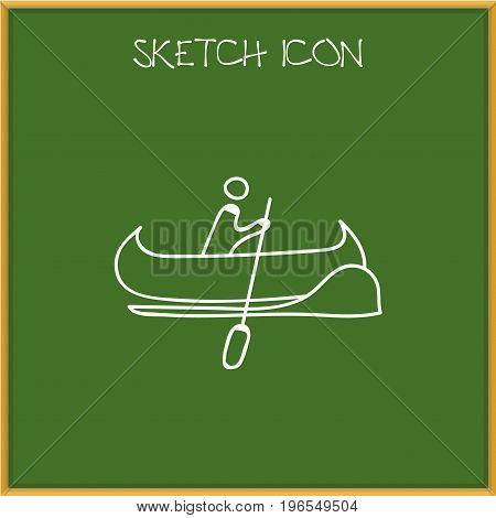 Vector Illustration Of Trip Symbol On Vessel Doodle