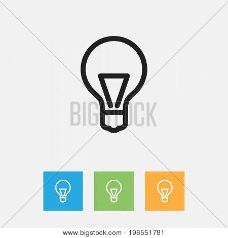 Vector Illustration Of Teach Symbol On Lightbulb Outline