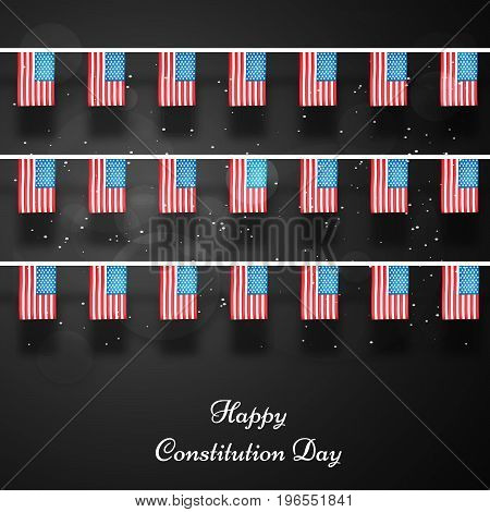 illustration of decoration with Happy Constitution Day text on the occasion of USA Constitution Day