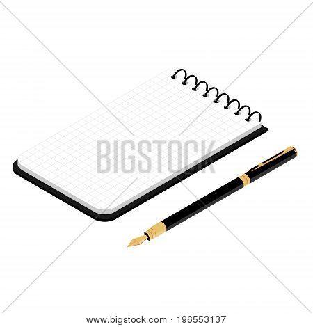 Spiral Notepad Vector