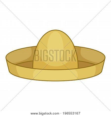 Mexican hat sombrero icon. Cartoon illustration of mexican hat sombrero vector icon for web design