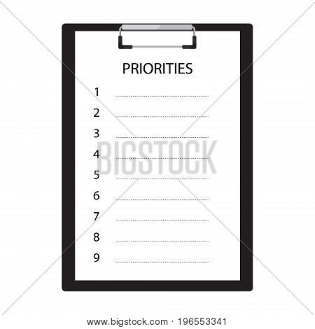 Priorities Vector Icon