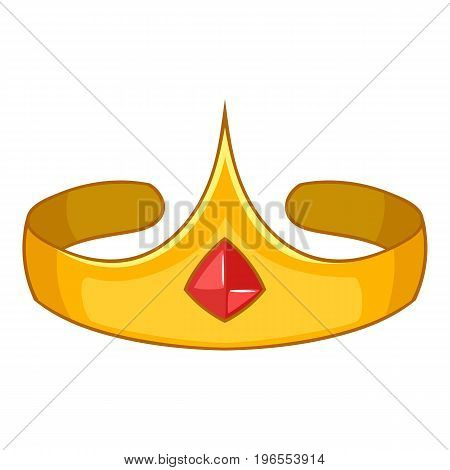 Princess crown icon. Cartoon illustration of princess crown vector icon for web design