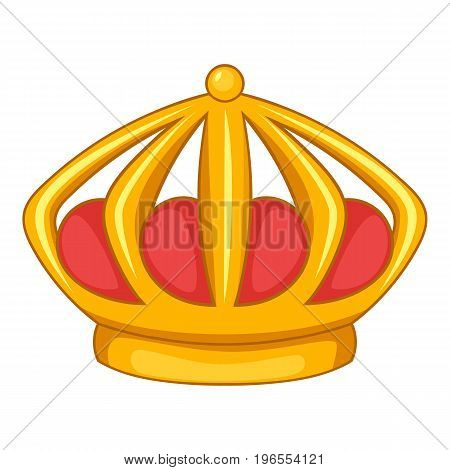 Imperial crown icon. Cartoon illustration of imperial crown vector icon for web design