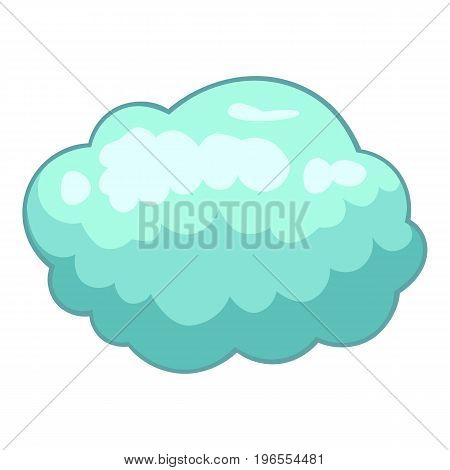 Storm cloud icon. Cartoon illustration of storm cloud vector icon for web design