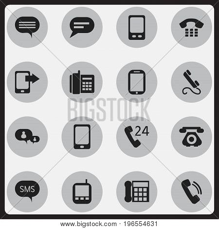 Set Of 16 Editable Device Icons. Includes Symbols Such As Tablet, 24 Hour Servicing, Phone And More