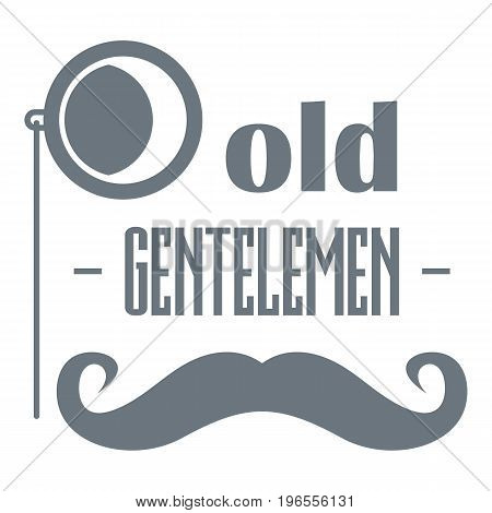Old gentlemen logo. Simple illustration of old gentlemen vector logo for web design