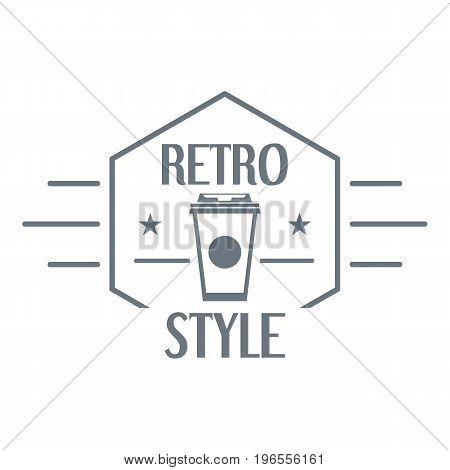Retro style logo. Simple illustration of retro style vector logo for web design
