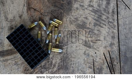 Bullets are a projectile expelled from the barrel of a firearm.