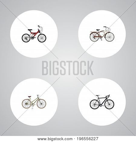 Realistic Cyclocross Drive, For Girl, Adolescent And Other Vector Elements