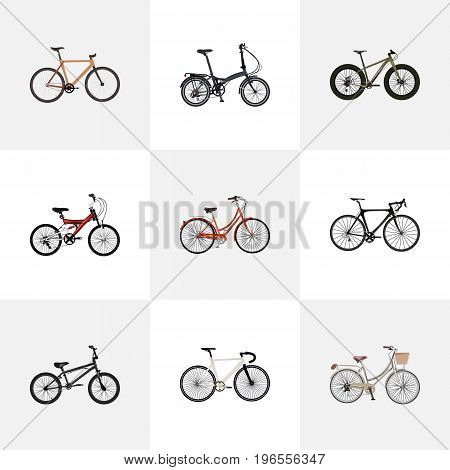Realistic Extreme Biking, Timbered, Adolescent And Other Vector Elements