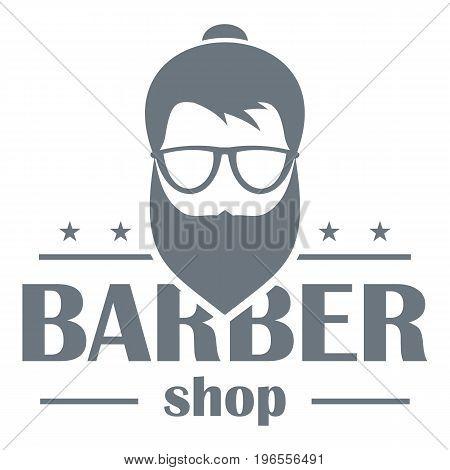 Barber shop logo. Simple illustration of barber shop vector logo for web design