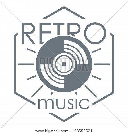 Retro music logo. Simple illustration of retro music vector logo for web design