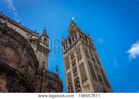 The Giralda Bell Tower In Seville, Spain, Europe