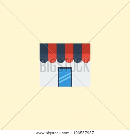 Flat Icon Store Element. Vector Illustration Of Flat Icon Shop  Isolated On Clean Background