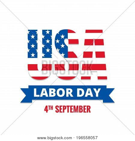 Labor Day. Typography for USA Labor Day.