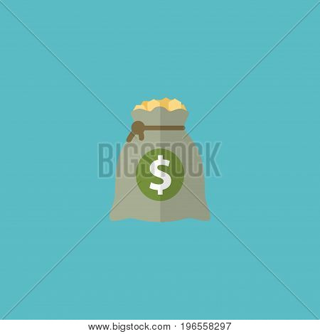 Flat Icon Profit Element. Vector Illustration Of Flat Icon Income Isolated On Clean Background