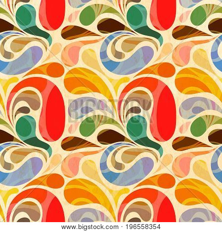 The retro seamless abstract floral pattern color