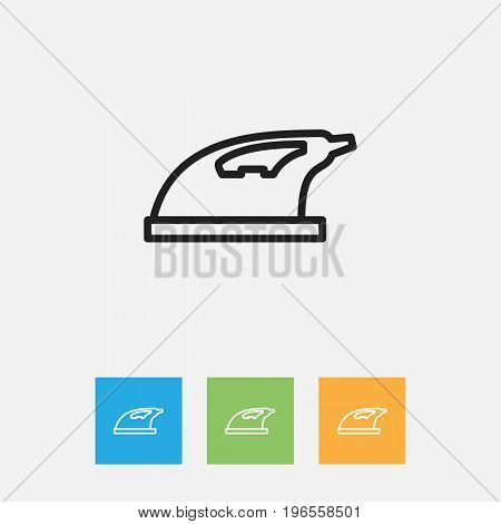 Vector Illustration Of Cleaning Symbol On Appliance Outline