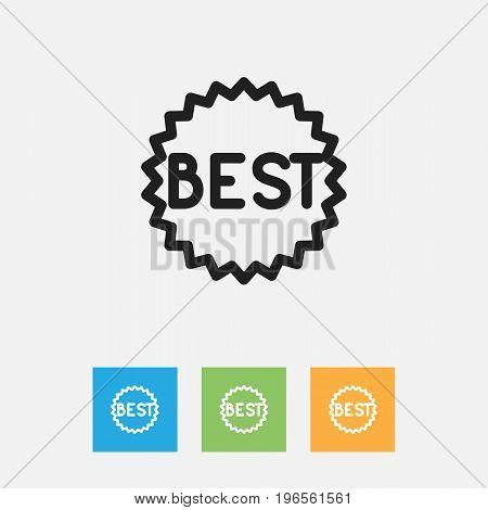 Vector Illustration Of Business Symbol On Badge Outline