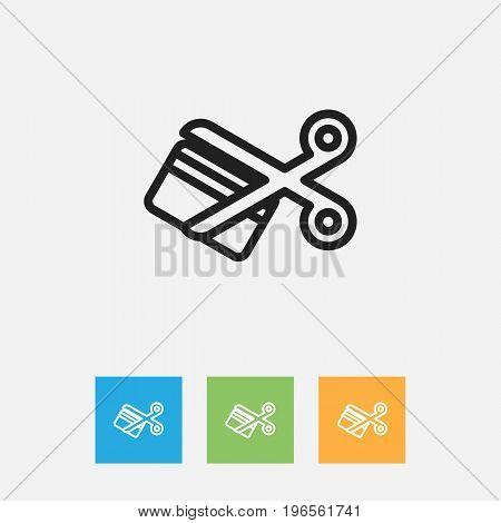 Vector Illustration Of Business Symbol On Scissors Outline