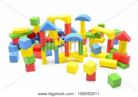 Kids blocks on a white background photo