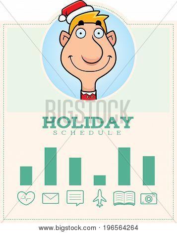 Cartoon Elf Christmas Graphic