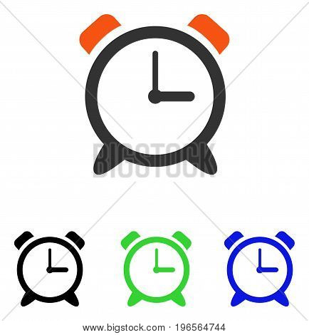 Alarm Clock vector icon. Illustration style is a flat iconic colored symbol with different color versions.