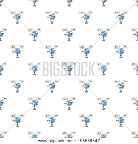 World translation pattern seamless repeat in cartoon style vector illustration