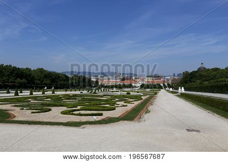 traditional garden belvedere on summer, vienna, austria