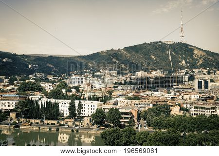 View Of Tbilisi, Capital Of Georgia Country