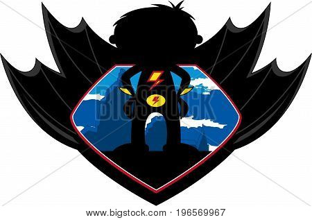 Winged Superhero Badge