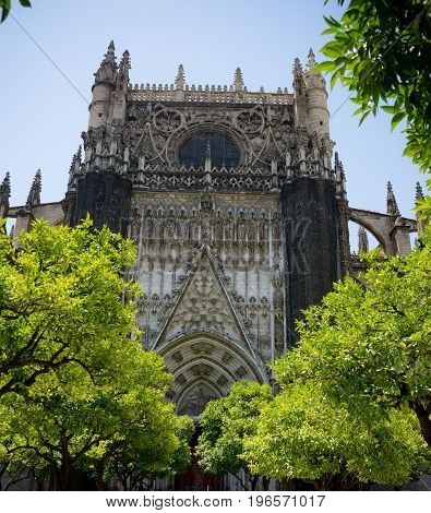 The Gothic Cathedral In Seville, Spain, Europe