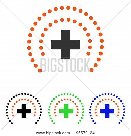 Health Care Protection vector pictograph. Illustration style is a flat iconic colored symbol with different color versions.