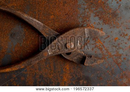 Old Rusty Pliers Tools