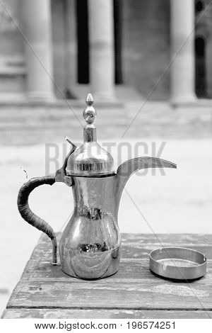 The Traditional Coffe Container Isolated On A Table