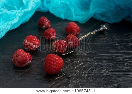 Frozen Berries On Dark Background